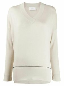 Snobby Sheep V-neck sequin-embellished jumper - NEUTRALS