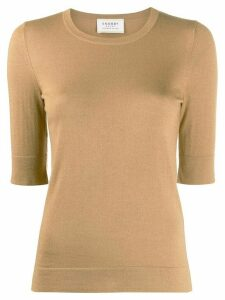 Snobby Sheep slim-fit knitted top - Brown