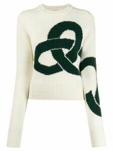 Victoria Beckham cashmere intarsia jumper - White