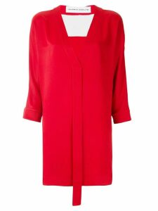 Gloria Coelho two tone blouse - Red