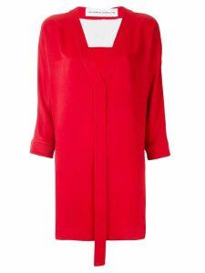Gloria Coelho two tone blouse - Red