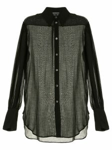 Ann Demeulemeester pleated shoulder shirt - TIRIEL BLACK