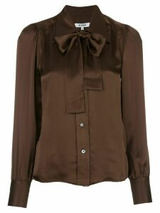 RE/DONE pussybow blouse - Brown