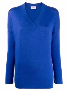 Snobby Sheep V-neck relaxed-fit jumper - Blue