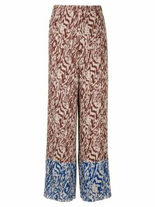 Solace London Nevya animal print trousers - Brown