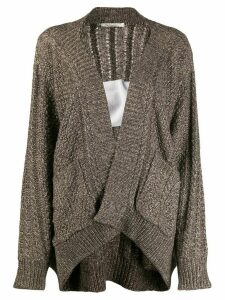 Mes Demoiselles metallic thread cardigan - NEUTRALS