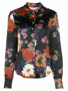 Staud floral-print blouse - Black