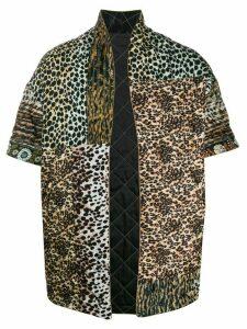 Pierre-Louis Mascia animal print short sleeve coat - Brown