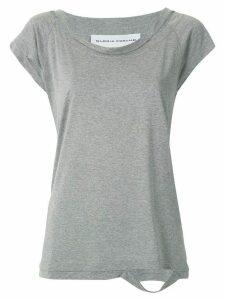 Gloria Coelho cut out details T-shirt - Grey