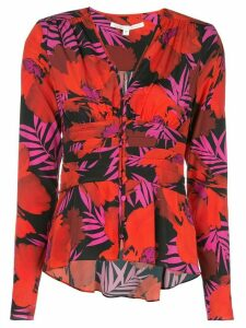 Veronica Beard Pevero Poppy-print shirt - Red