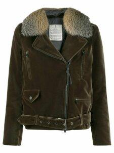 Brunello Cucinelli buckled zip-up jacket - Green