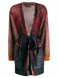 Missoni mix pattern cardigan - Blue