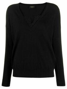 LIU JO lace insert jumper - Black