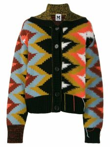 M Missoni all-over pattern cardigan - Brown