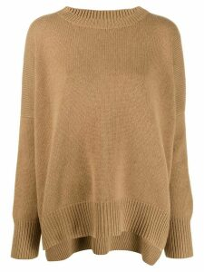 Oyuna round neck jumper - Brown