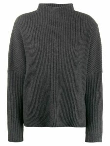 Oyuna stand up collar jumper - Grey