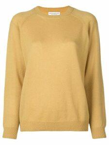 Alexandra Golovanoff classic crewneck sweater - Yellow