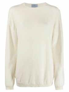 Oyuna knitted Travel jumper - White
