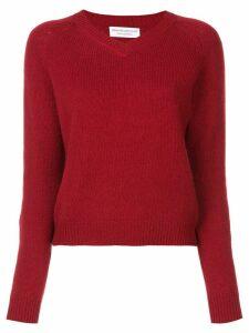 Alexandra Golovanoff knitted v-neck sweater - Red