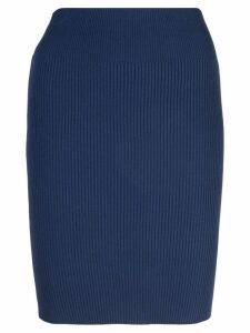 Alexandra Golovanoff fitted sweater skirt - Blue