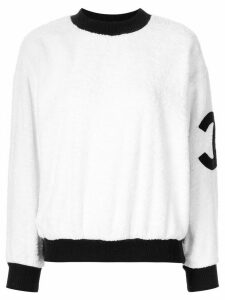 Chanel Pre-Owned CC long sleeve jumper - White