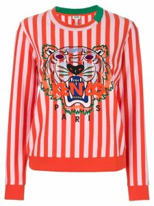 Kenzo tiger motif striped sweatshirt - PINK