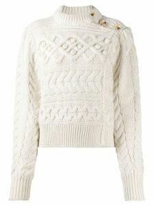 Isabel Marant Matthew chunky-knit cardigan - NEUTRALS