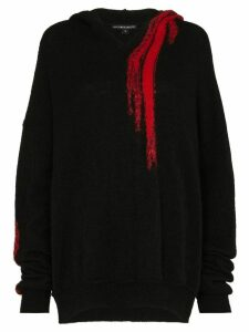 Ann Demeulemeester Contrast Detail Oversized Sweater - Black