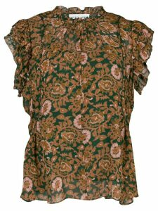 Apiece Apart short-sleeve floral top - ORANGE