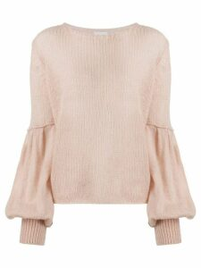 Dondup balloon sleeve relaxed-fit jumper - NEUTRALS