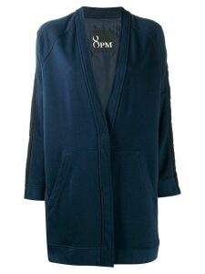 8pm buttoned jersey jacket - Blue