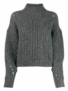 IRO Venati oversized twisted-mesh jumper - Grey