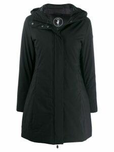 Save The Duck logo hooded raincoat - Black