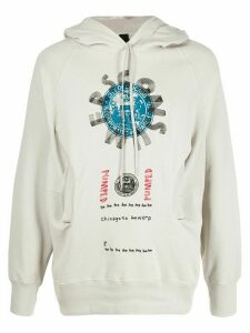 Camper Lab x Bernhard Willhelm graphic print hoodie - NEUTRALS