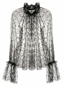Redemption sheer patterned shirt - Black