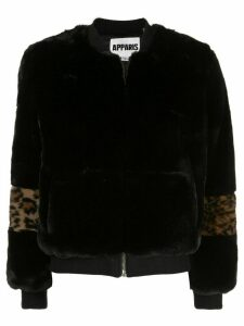 Apparis Jem faux-fur bomber jacket - Black