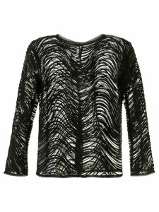 Emporio Armani beaded long-sleeve top - Black