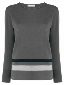 Fabiana Filippi striped slim-fit jumper - Grey