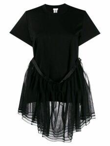 Comme Des Garçons Noir Kei Ninomiya tulle peplum T-shirt - Black