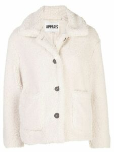 Apparis Charlotte faux-shearling jacket - White