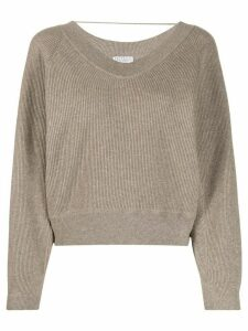 Brunello Cucinelli lurex knit jumper - Brown