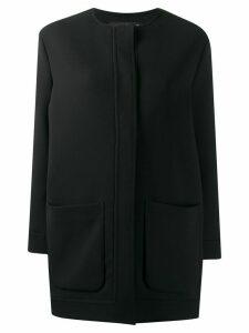 Gianluca Capannolo collarless mid-length coat - Black