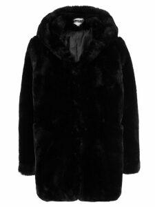 Apparis Marie hooded faux-fur coat - Black
