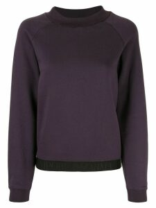 Emporio Armani logo trim sweatshirt - Purple