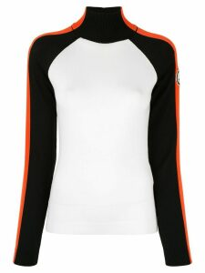 Giorgio Armani colour-block turtle neck sweater - White