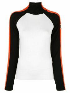 Giorgio Armani colour-block turtle neck sweater - White