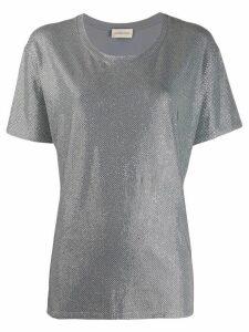 Alexandre Vauthier rhinestone embellished T-shirt - Grey