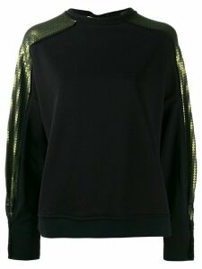 8pm sequin-embroidered jersey jumper - Black