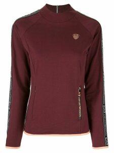Ea7 Emporio Armani logo long-sleeve sweatshirt - Red