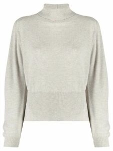 Fabiana Filippi turtleneck side slit jumper - NEUTRALS